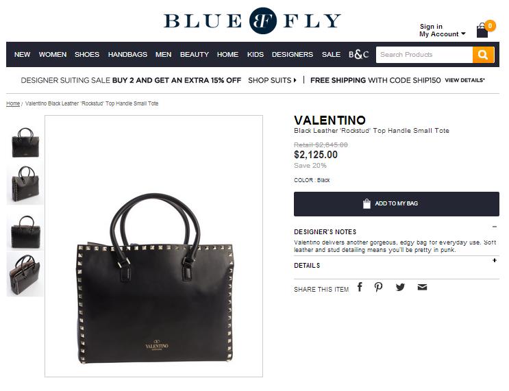 bluefly valentino