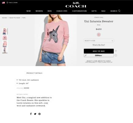COACH_ Uni Intarsia Sweater